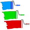 Vector clipart: Three roller for painting.