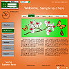 Vector clipart: template web site about nature