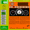 Vector clipart: template web site about automotive topics