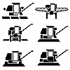 Vector clipart: harvesting combines