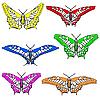 Vector clipart: set of beautiful butterflies