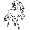 Vector clipart: Black horse