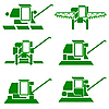 Vector clipart: harvesting combine