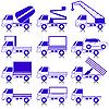 Vector clipart: Set of icons - transportation symbols.