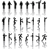 Vector clipart: People in different poses Icon