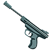 Vector clipart: firearm, pistol .