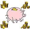 Vector clipart: Pig piggy bank