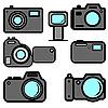 Vector clipart: A set of digital cameras