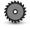 Vector clipart: Circular saw blade