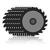 Vector clipart: Circular saw blade .