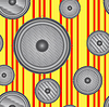 Vector clipart: Speakers seamless background.