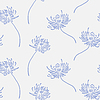 Vector clipart: floral wallpaper with set of different flowers.