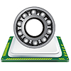 Vector clipart: bearing and computer processor