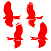 Vector clipart: Eagle symbols and tattoo,