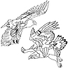 Vector clipart: Eagles symbols and tattoo,