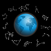 constellations around globe