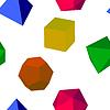 Векторный клипарт: Бесшовные красочным 3d геометрических фигур