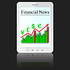 Vector clipart: Financial News tablet PC computer