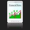 Vector clipart: Financial News tablet PC computer