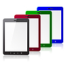 Vector clipart: Four color tablet PC computer with blank screen