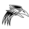 Vector clipart: eagle black and white sign