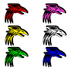 Vector clipart: eagle for emblem design