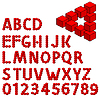 abstract optical illusion three dimension alphabet set