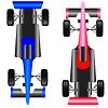 Векторный клипарт: Спортивный автомобиль схема вид сверху