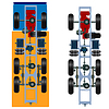 Vector clipart: truck suspension, top view