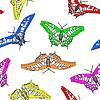Векторный клипарт: Бабочки бесшовные обои.