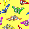 Vector clipart: Butterfly seamless pattern .