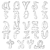 Vector clipart: Hand drawing greek alphabet