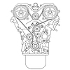 Vector clipart: Internal combustion engine