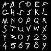 Векторный клипарт: Декоративный набор алфавит