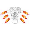 Векторный клипарт: Двигатель внутреннего сгорания