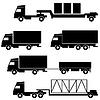 Set of icons - transportation symbols