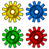 Vector clipart: Colors gears