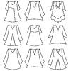 Set von modischen Kleidern für Mädchen