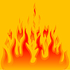 Vector clipart: Burn flame fire background
