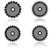 Vector clipart: Set circular saw blade