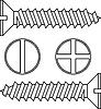 Stainless steel screw.