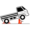 Vector clipart: Device for lifting car repair.