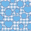 Vector clipart: Blue application - seamless pattern