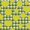 Vector clipart: Green application - seamless patter