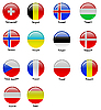 round Icons with European flags
