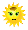 Smiling sun | Stock Vector Graphics