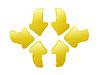 Vector clipart: 3d arrows