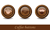 Coffee buttons | Stock Vector Graphics