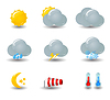 Weather icons | Stock Vector Graphics