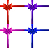 Vector clipart: Colored bows